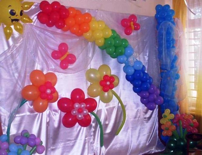 Украшение на праздник шарами своими руками