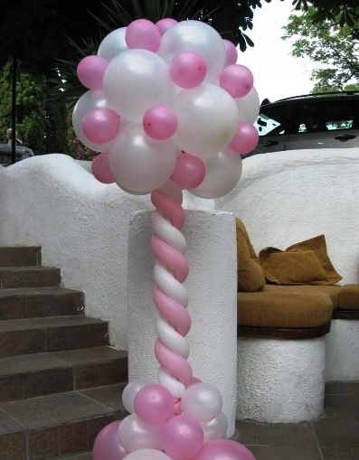 Колонны из шаров как сделать