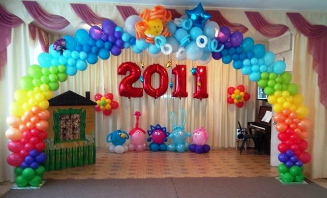 Картинки оформление зала на выпускной в детском саду
